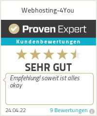 Erfahrungen & Bewertungen zu Webhosting-4You