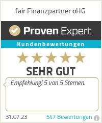 Erfahrungen & Bewertungen zu fair Finanzpartner oHG