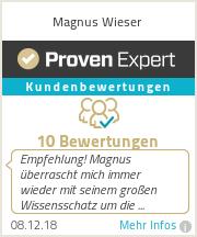 Erfahrungen & Bewertungen zu Magnus Wieser