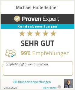 Erfahrungen & Bewertungen zu Michael Hinterleitner