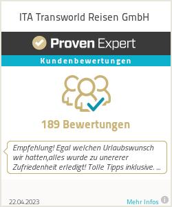 Erfahrungen & Bewertungen zu ITA Transworld Reisen GmbH