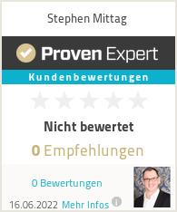Erfahrungen & Bewertungen zu Stephen Mittag