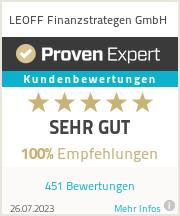 Erfahrungen & Bewertungen zu LEOFF Finanzstrategen GmbH
