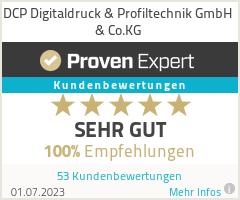 Erfahrungen & Bewertungen zu DCP Digitaldruck & Profiltechnik GmbH & Co.KG