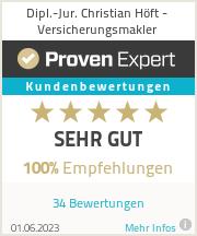 Erfahrungen & Bewertungen zu Dipl.-Jur. Christian Höft - Versicherungsmakler