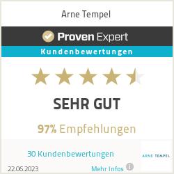 Erfahrungen & Bewertungen zu Arne Tempel