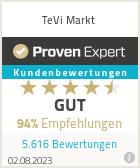 Erfahrungen & Bewertungen zu TeVi Markt