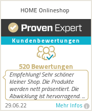 Erfahrungen & Bewertungen zu HOME Onlineshop
