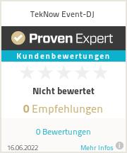 Erfahrungen & Bewertungen zu TekNow Event-DJ