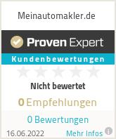 Erfahrungen & Bewertungen zu Meinautomakler.de