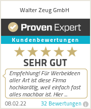 Erfahrungen & Bewertungen zu Walter Zeug GmbH