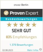 Erfahrungen & Bewertungen zu crusz Berlin