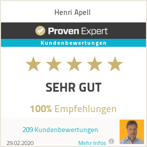 Erfahrungen & Bewertungen zu Henri Apell