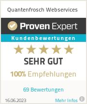 Erfahrungen & Bewertungen zu Quantenfrosch Webservices