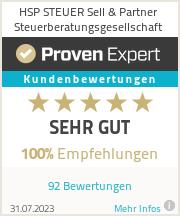 Erfahrungen & Bewertungen zu HSP STEUER Sell & Partner Steuerberatungsgesellschaft