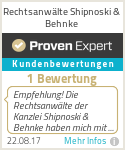 Erfahrungen & Bewertungen zu Rechtsanwälte Shipnoski & Behnke