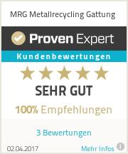 Erfahrungen & Bewertungen zu MRG Metallrecycling Gattung