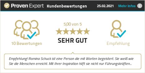 Kundenbewertungen & Erfahrungen zu Romina Schuck. Mehr Infos anzeigen.