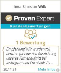 Erfahrungen & Bewertungen zu Sina-Christin Wilk