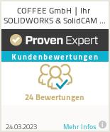 Erfahrungen & Bewertungen zu COFFEE GmbH | Ihr SOLIDWORKS & SolidCAM Partner