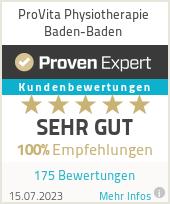 Erfahrungen & Bewertungen zu ProVita Physiotherapie Baden-Baden