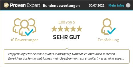 Kundenbewertungen & Erfahrungen zu Jannes Peer Gaukel. Mehr Infos anzeigen.