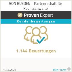 Erfahrungen & Bewertungen zu VON RUEDEN - Partnerschaft für Rechtsanwälte