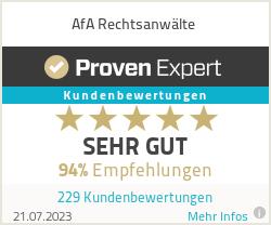 Erfahrungen & Bewertungen zu AfA Rechtsanwälte