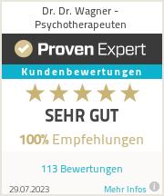 Erfahrungen & Bewertungen zu Dr. Dr. Wagner - Psychotherapeuten