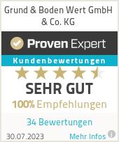 Erfahrungen & Bewertungen zu Grund & Boden Wert GmbH & Co. KG
