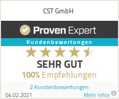 Erfahrungen & Bewertungen zu CST GmbH