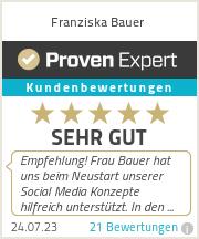 Erfahrungen & Bewertungen zu Franziska Bauer