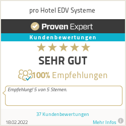Erfahrungen & Bewertungen zu pro Hotel EDV Systeme
