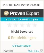 Erfahrungen & Bewertungen zu PRO DESIGN Electronic GmbH