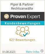 Erfahrungen & Bewertungen zu Piper & Partner Rechtsanwälte