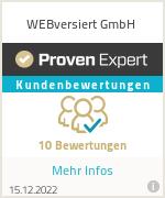 Erfahrungen & Bewertungen zu WEBversiert GmbH
