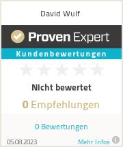 Erfahrungen & Bewertungen zu David Wulf