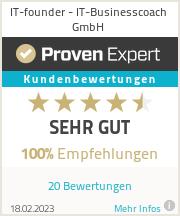 Erfahrungen & Bewertungen zu IT-founder - IT-Businesscoach GmbH