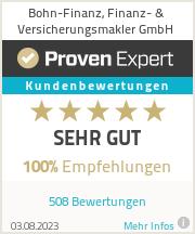 Erfahrungen & Bewertungen zu Bohn-Finanz, Finanz- & Versicherungsmakler Thorsten Bohn e.K.