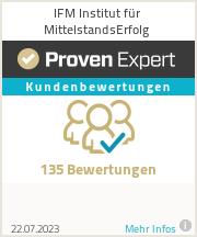 Erfahrungen & Bewertungen zu IFM Institut für MittelstandsErfolg