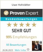 Erfahrungen & Bewertungen zu Uwe Hofstätter