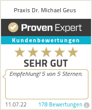 Erfahrungen & Bewertungen zu Praxis Dr. Michael Geus