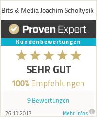 Erfahrungen & Bewertungen zu Bits & Media Joachim Scholtysik