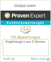 Erfahrungen & Bewertungen zu DUOjob GmbH