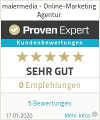 Erfahrungen & Bewertungen zu malermedia - Online-Marketing Agentur