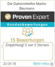 Erfahrungen & Bewertungen zu Die DaheimHelfer Martin Baumann