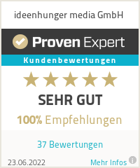 Erfahrungen & Bewertungen zu ideenhunger media GmbH