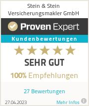 Erfahrungen & Bewertungen zu Stein & Stein Versicherungsmakler GmbH