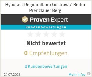 Erfahrungen & Bewertungen zu Hypofact Regionalbüro Güstrow / Berlin Prenzlauer Berg