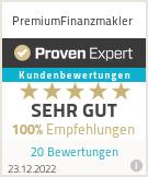 Erfahrungen & Bewertungen zu PremiumFinanzmakler